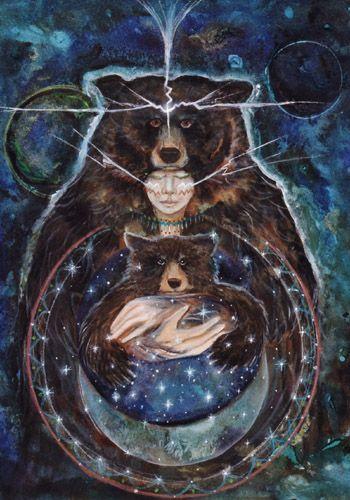 šamanismus medvěd  fantasy art  duchovno